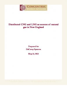 Distributed CNG and LNG as sources of natural gas in New England. Prepared for OsComp Systems
