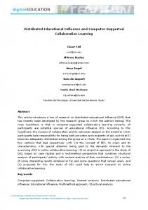 Distributed Educational Influence and Computer-Supported Collaborative Learning