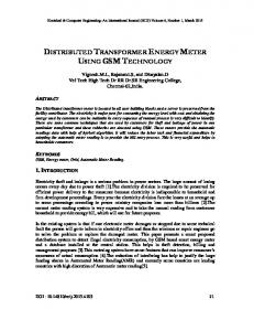 DISTRIBUTED TRANSFORMER ENERGY METER USING GSM TECHNOLOGY