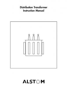 Distribution Transformer Instruction Manual