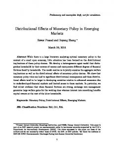 Distributional Effects of Monetary Policy in Emerging Markets