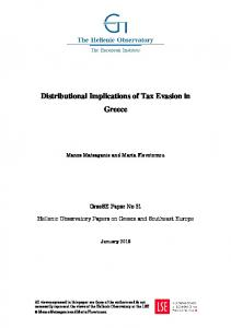 Distributional Implications of Tax Evasion in Greece