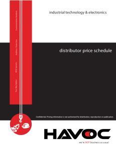 distributor price schedule