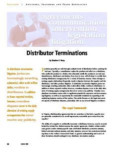 Distributor Terminations