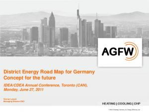 District Energy Road Map for Germany Concept for the future