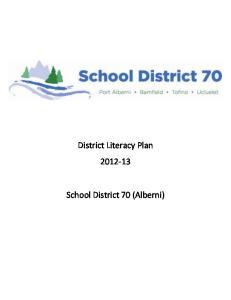 District Literacy Plan School District 70 (Alberni)