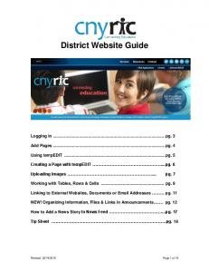 District Website Guide