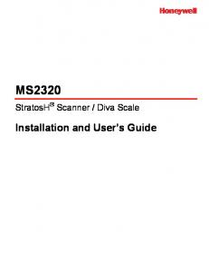 Diva Scale. Installation and User s Guide