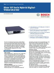 Divar XF Serie Hybrid Digital- Videorekorder