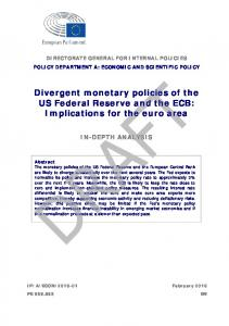 Divergent monetary policies of the US Federal Reserve and the ECB: Implications for the euro area