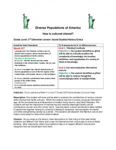 Diverse Populations of America