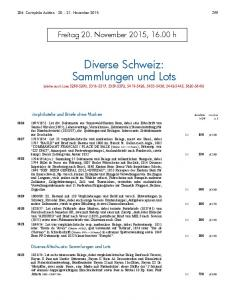 Diverse Schweiz: Sammlungen und Lots