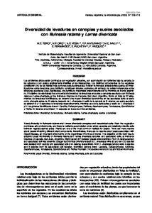 Diversidad de levaduras en canopias y suelos asociados con Bulnesia retama y Larrea divaricata