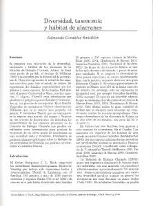 Diversidad, taxonomfa y habitat de alacranes
