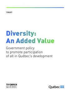 Diversity: An Added Value