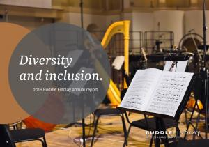 Diversity and inclusion Buddle Findlay annual report