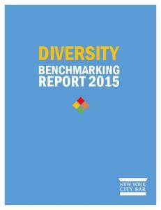 DIVERSITY BENCHMARKING REPORT 2015