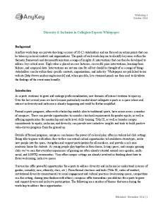 Diversity & Inclusion in Collegiate Esports Whitepaper