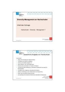 Diversity-Management an Hochschulen