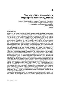Diversity of Wild Mammals in a Megalopolis: Mexico City, Mexico