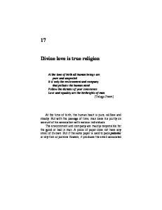 Divine love is true religion