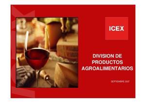 DIVISION DE PRODUCTOS AGROALIMENTARIOS SEPTIEMBRE 2007