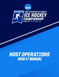 Division III Men s and Women s Ice Hockey