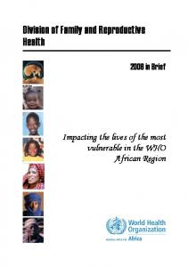 Division of Family and Reproductive Health