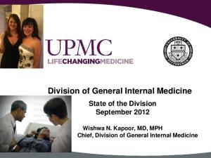Division of General Internal Medicine