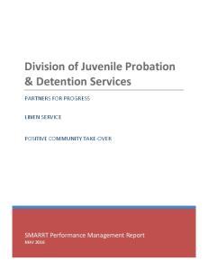 Division of Juvenile Probation & Detention Services
