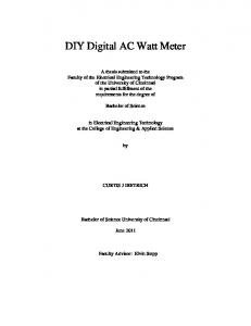 DIY Digital AC Watt Meter