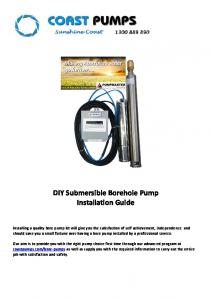 DIY Submersible Borehole Pump Installation Guide