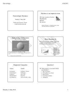 Dizziness is an imprecise term Non-otologic Dizziness