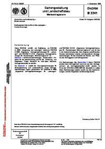 DK 712.3:: November Gartengestaltung und Landschaftsbau. Werkvertragsnorm