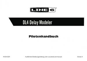 DL4 Delay Modeler Pilotenhandbuch