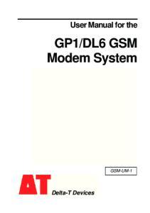 DL6 GSM Modem System