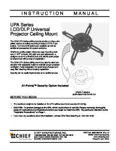 DLP Universal Projector Ceiling Mount