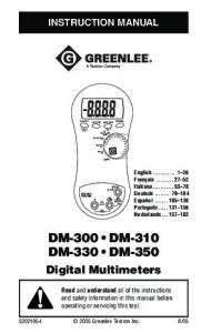 DM-300 DM-310 DM-330 DM-350