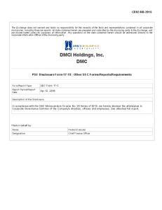 DMCI Holdings, Inc. DMC