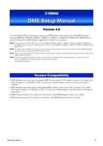 DME Setup Manual. Version 4.0