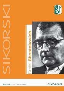 Dmitri Shostakovich SIK second edition