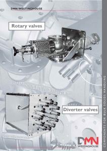 DMN-WESTINGHOUSE. Rotary valves COMPONENTS FOR BULK SOLIDS HANDLING. Diverter valves