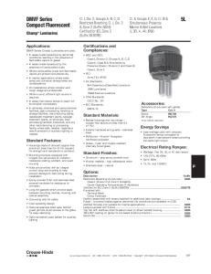 DMVF Series Compact Fluorescent
