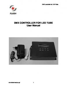 DMX CONTROLLER FOR LED TUBE User Manual