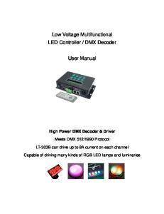 DMX Decoder. User Manual