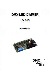 DMX-LED-DIMMER 16x RGB