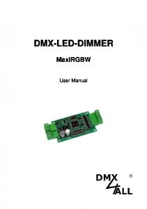 DMX-LED-DIMMER MaxiRGBW