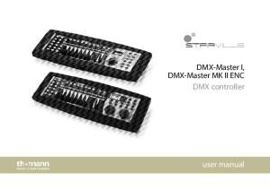 DMX-Master I, DMX-Master MK II ENC DMX controller. user manual