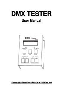 DMX TESTER User Manual