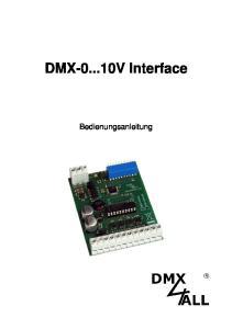 DMX V Interface. Bedienungsanleitung